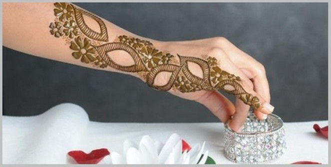 Arabic mehandi Designs for hands step by step