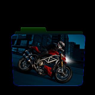 Preview of Bike racing, game icon, bike, bike racing folder icon
