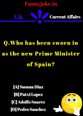 Who has been sworn in as the new Prime Minister of Spain ?