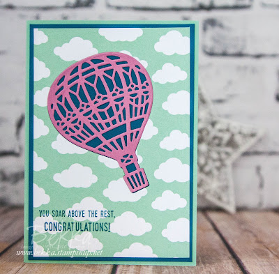 Congratulations Card Featuring Stampin' Up! UK's Lift Me Up Stamp Set & matching Up & Away Dies