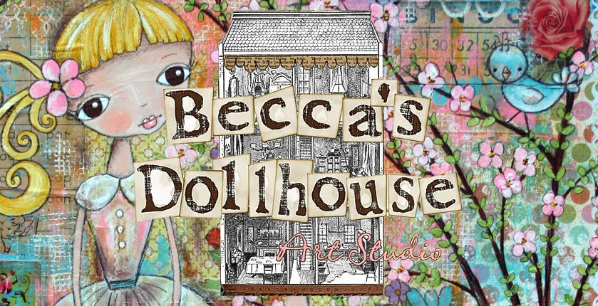 Becca's Dollhouse Art Studio