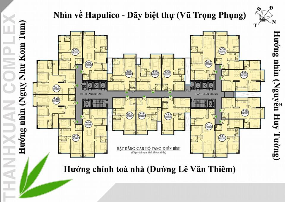 Mặt bằng tổng thể dự án Chung cư Thanh Xuân Complex