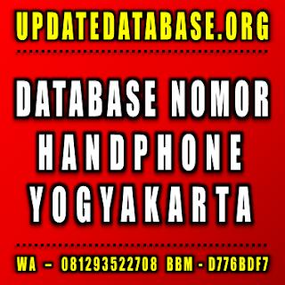 Jual Database Nomor Handphone Yogyakarta