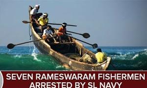 Seven Rameswaram Fishermen arrested & Boat Seized by Sri Lanka Navy