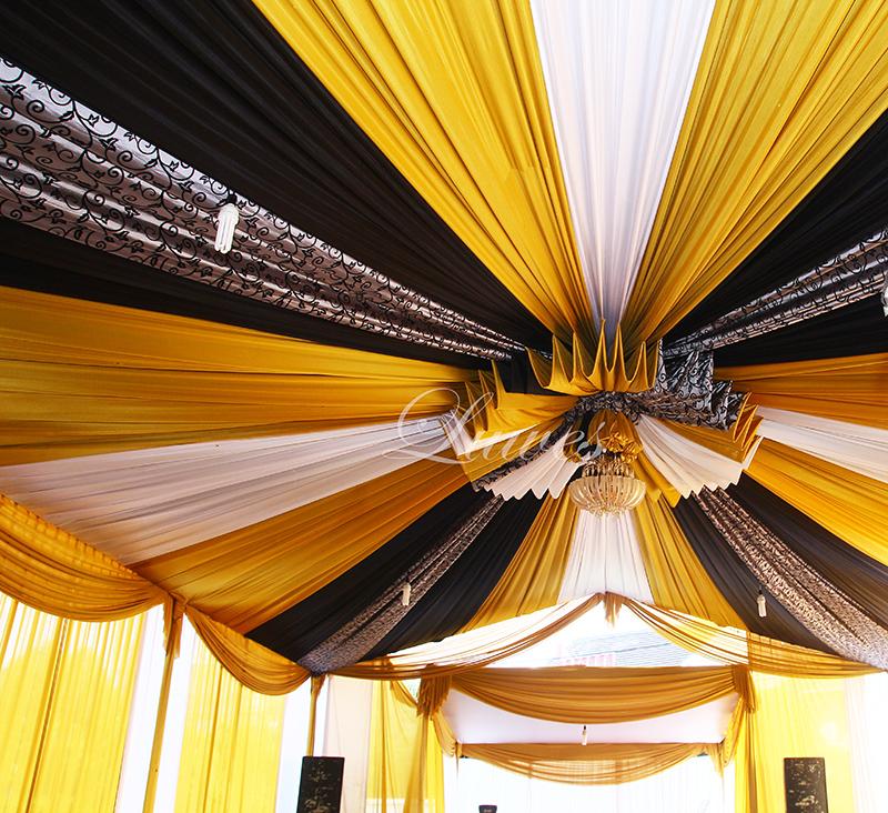 Dekorasi tenda VIP batik untuk resepsi pernikahan bekasi
