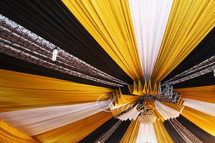 Dekorasi Tenda Pernikahan Untuk Resepsi Pernikahan di rumah