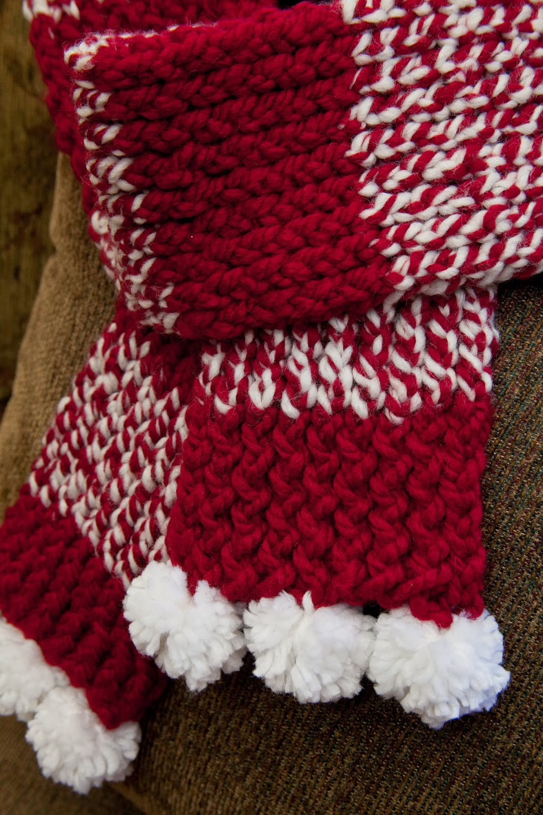 LOOM KNIT HOLIDAY SCARF | Loom Knitting by This Moment is ...