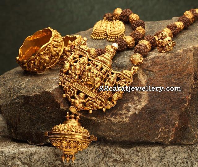 Temple Jewellery Rudraksha Mala