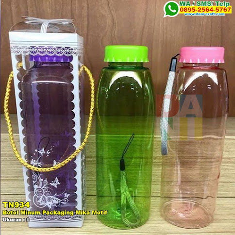 Botol Minum Packaging Mika Motif