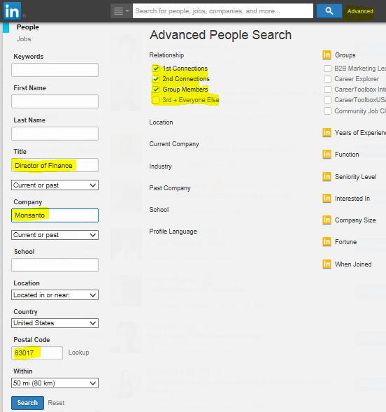LinkedIn, LinkedIn advanced people search, LinkedIn search,
