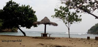 panorama pantai ngliyep malang