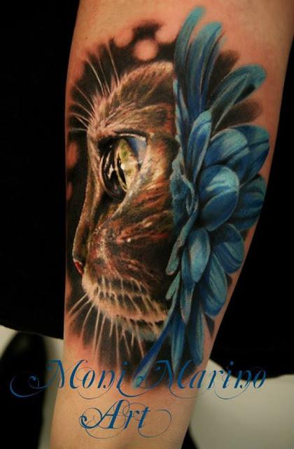 Criativas Tatuagens para quem ama os gatos