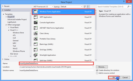 Insert, Update and Delete Record in DataGridView C# ~ IT
