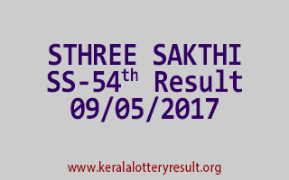 STHREE SAKTHI Lottery SS 54 Results 9-5-2017