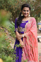 Actress Shraddha Srinath in Purple Chania Choli Cute Pics ~  Exclusive 33.jpg