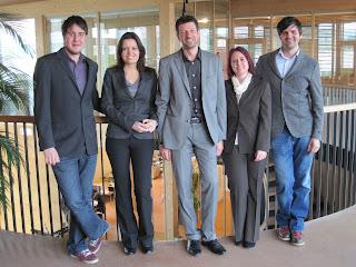 von links nach rechts: Roger Frei, Sonja Mailänder, Stefan Plaschke, Christiane Warasin und Florian Tappeiner