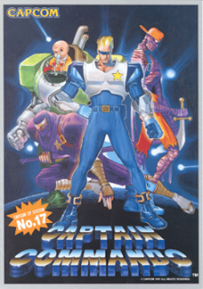 Captain Comando arcade game portable flyer