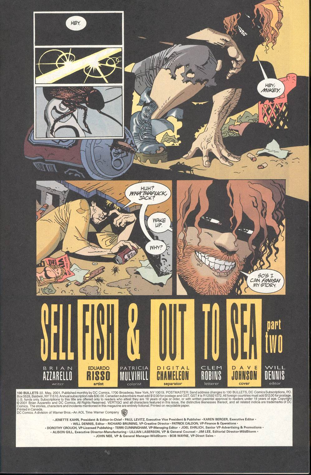Read online 100 Bullets comic -  Issue #22 - 2