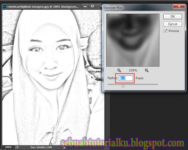 Foto Sketsa Pensil Dengan Photoshop