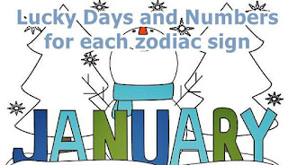 Lucky Days and Numbers for each sign for January 2017