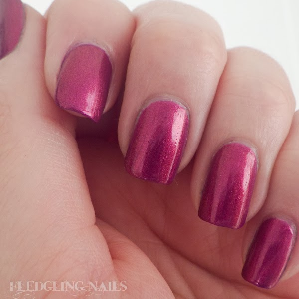 Fledgling Nails Reviews And Swatches Sinful Colors Berry Blast
