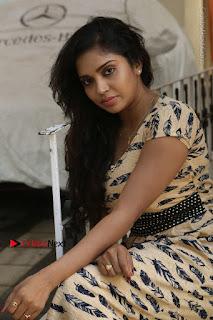 Telugu Actress Karunya Chowdary Stills in Short Dress at ATM Not Working Press Meet  0172.jpg