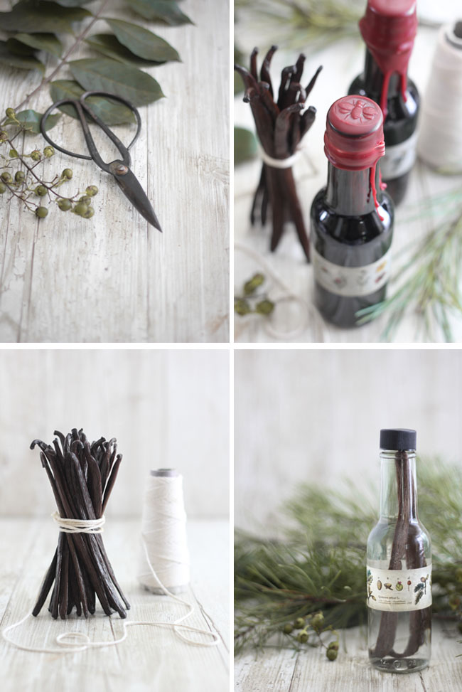 Homemade Vanilla Extract in Wax-Sealed Bottles