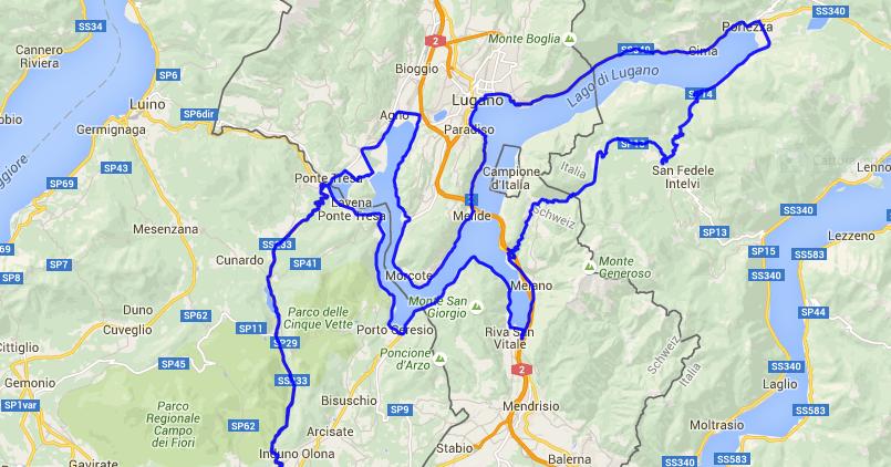 Cartina Svizzera Lugano.Allievo Del Vento Ceresio Giro Del Lago Di Lugano In Bici