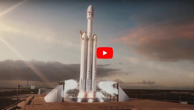 Lanciato Falcon Heavy Space X: aperta la strada dei Viaggi verso Marte - FOTO VIDEO Live Streaming dallo Spazio