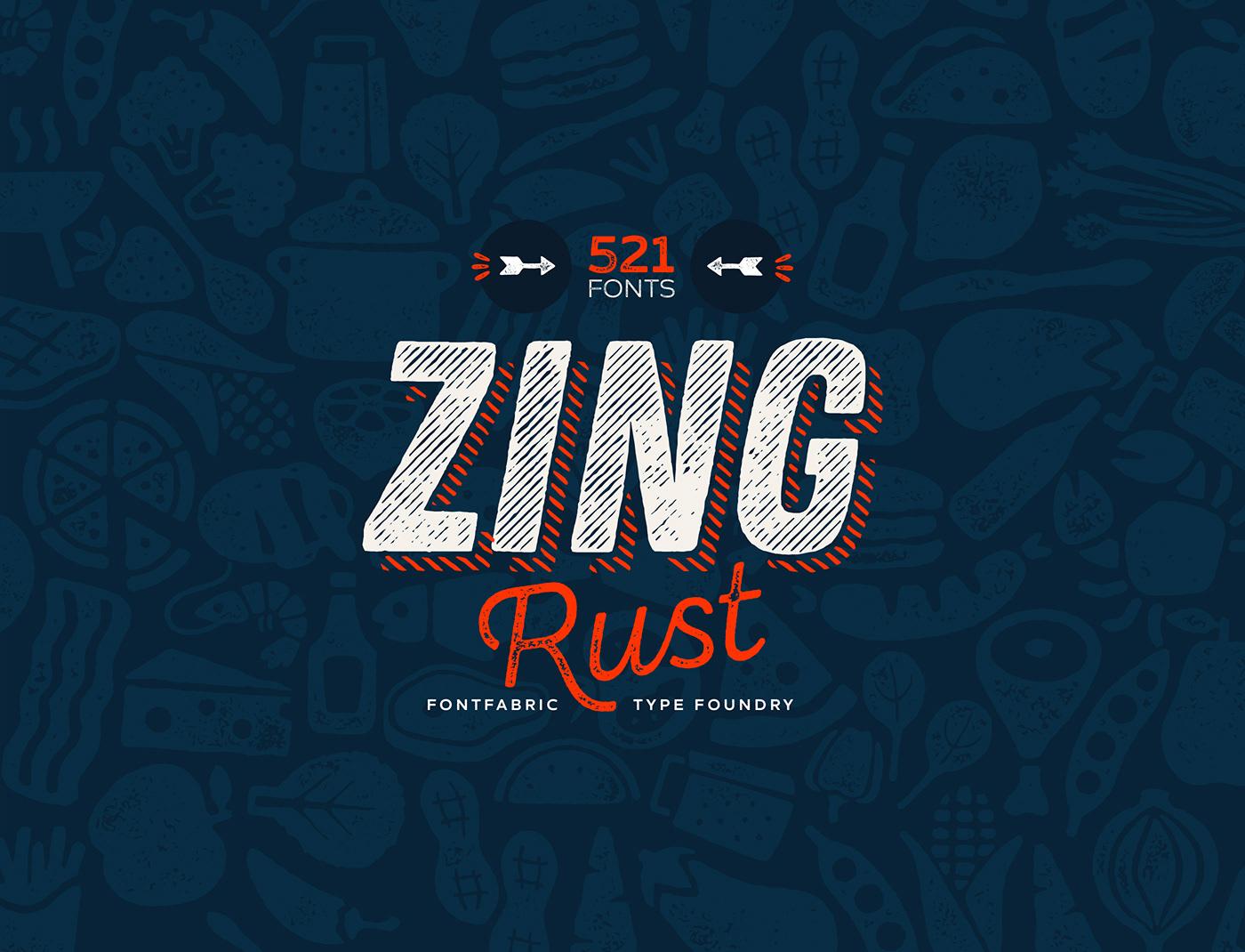مجموعة خطوط زينج ريست Zing Rust Free Fonts