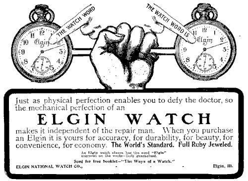 Elgintime Vintage Horological: Elgin Advertising, 1901