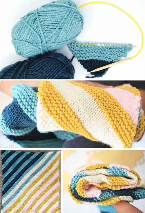 How to Knit a Corner To Corner Baby Blanket - Free Pattern