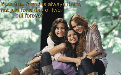 Greatest sexy quotes about friendship:  Your true friend is always there, not just for a day or two but forever.