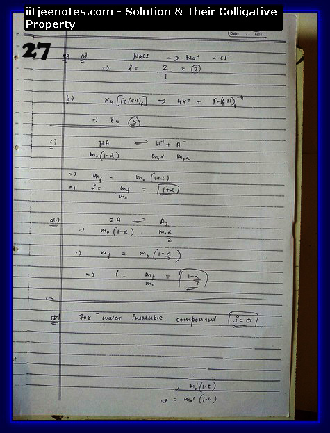Solution and Their Colligative Property Notes11