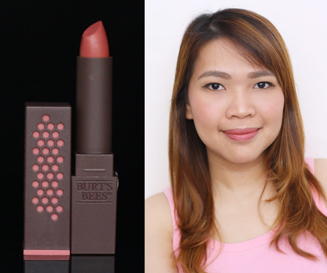 A photo of Burt's Bees 100% Natural Lipstick in Blush Basin