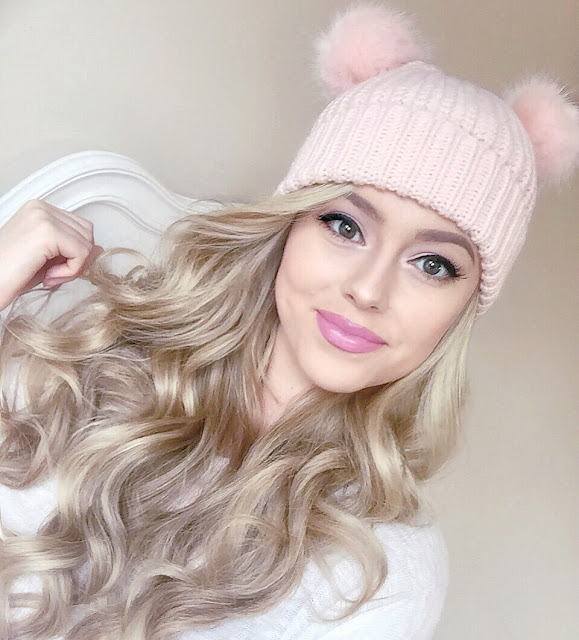 Love, Catherine | Pink Double Pom Pom Bobble Hat