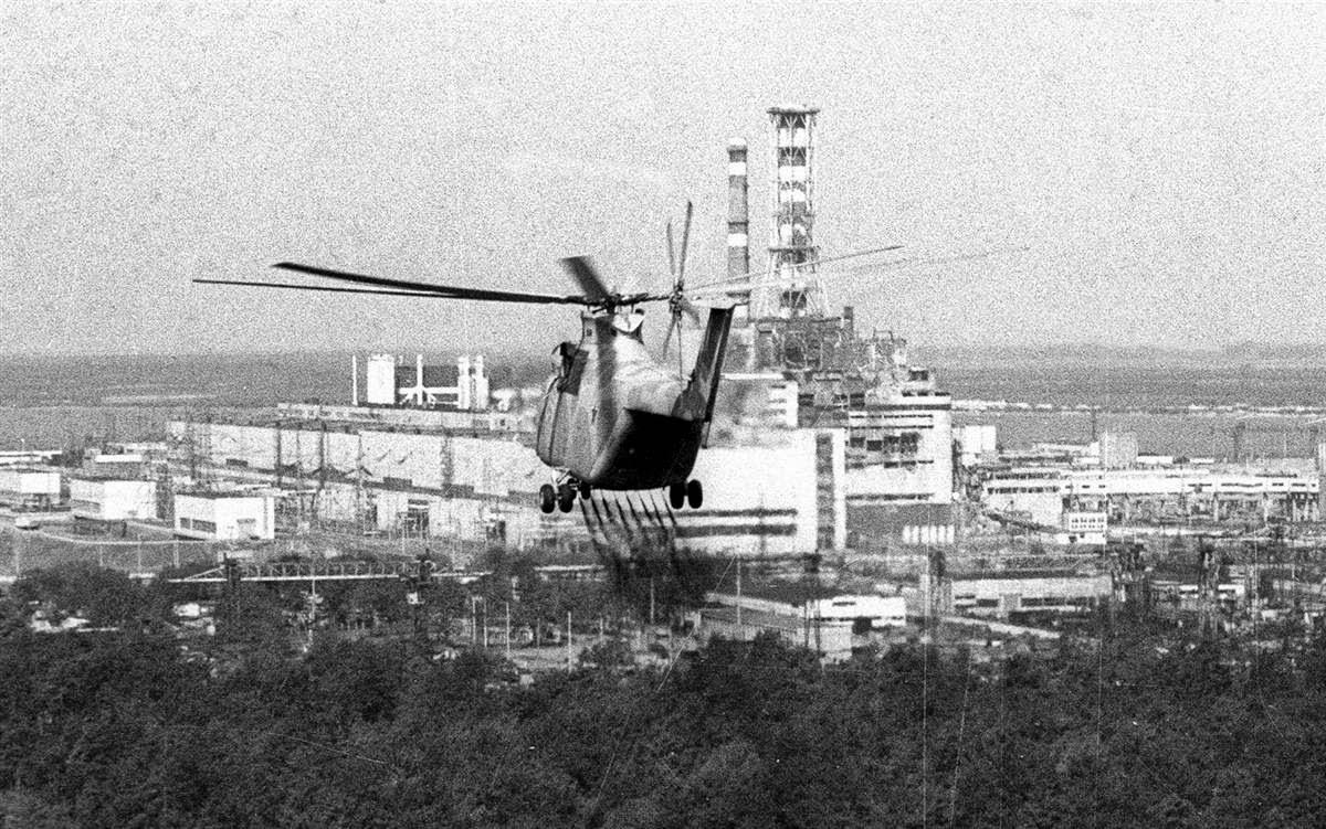 helicóptero Chernobyl 1986
