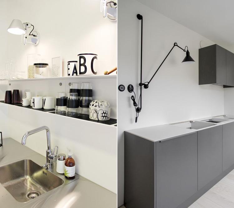 Una lampada a braccio in cucina  Arredamento facile