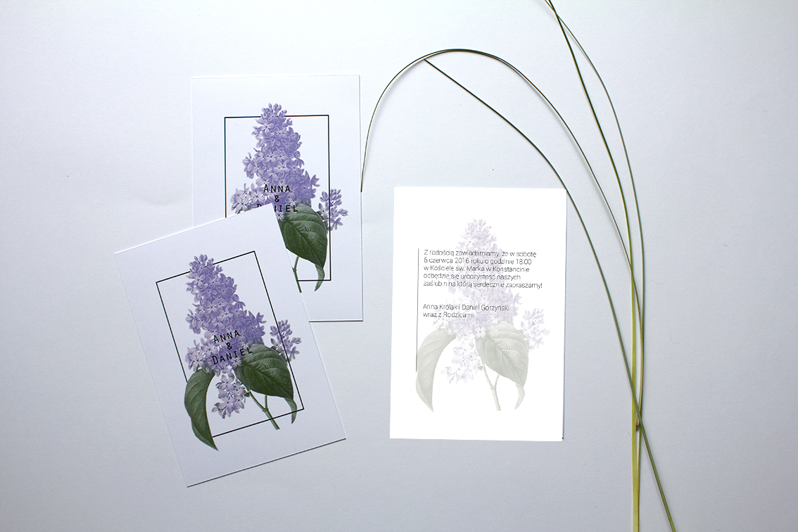 Kwiatowe zaproszenia na ślub
