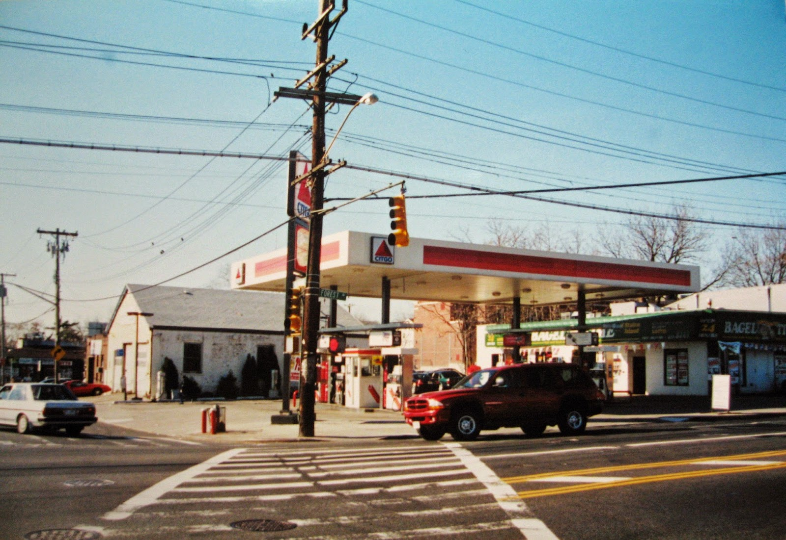 Where Silvestri's service station once stood across Forest Ave from the Orchard