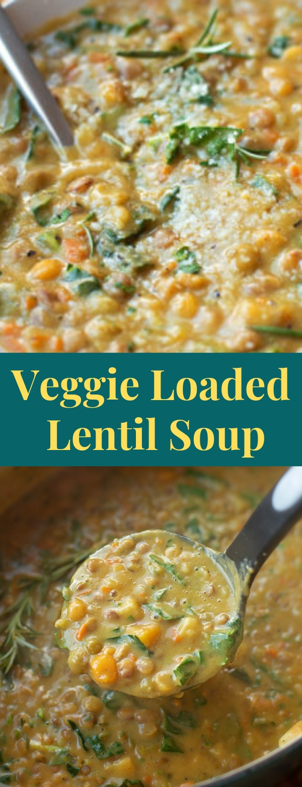 Veggie Loaded Lentil Soup
