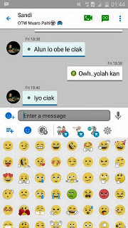 BBM LIKE Ios FULL DP New Version BBM New Style