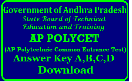 AP POLYCET Answer Key 2019 for A,B,C,D- Download AP Polycet 2019 Answer Key AP POLYCET Answer Key 2019 for A,B,C,D- Download AP Polycet 2019 Answer Key | AP POLYCET Answer Key 2019 – AP Polycet Key For A B C D Sets With Question Papers Solutions @ polycetap.nic.in | AP POLYCET 2019 exam 2019 held today, answer key to be released | AP Polycet Answer Key 2019 Download | AP POLYCET Solution Key PDF For SET A, B, C, D | AP POLYCET Answer Key 2019 | ap-polycet-answer-key-solutions-for-all-sets-a-b-c-d-download-polycetap.nic.in/2019/04/ap-polycet-answer-key-solutions-for-all-sets-a-b-c-d-download-polycetap.nic.in.html