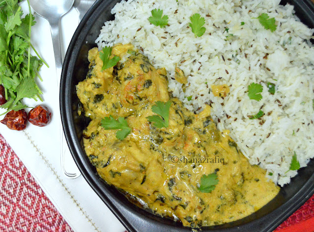 Malai Methi Chicken with Jeera Pulao