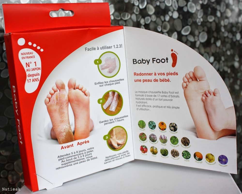 masque pour avoir des pieds beaux et doux Baby foot