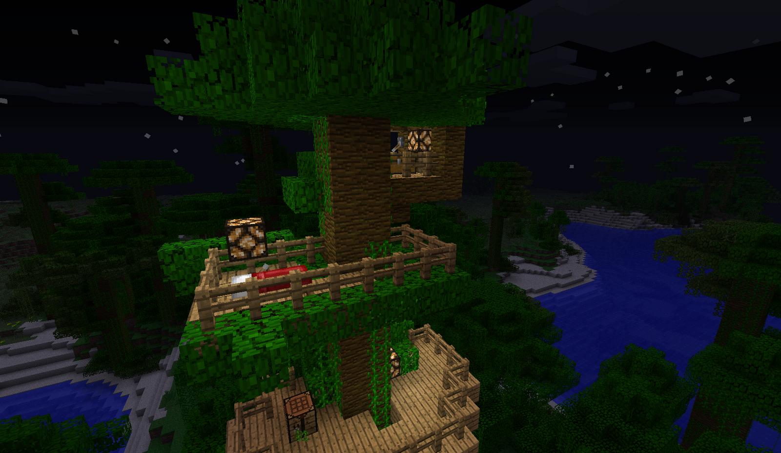 Minecraft Building Ideas Tree House