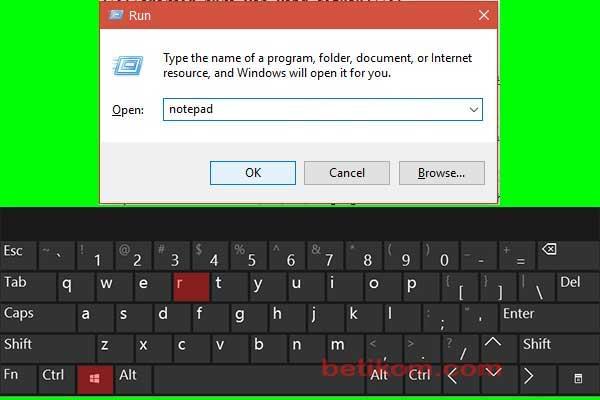 membuka notepad untuk password