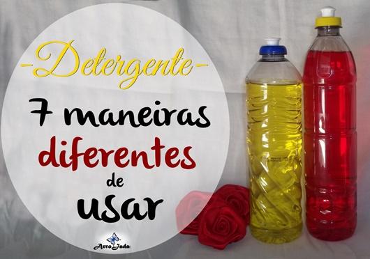 Detergente doméstico como usar
