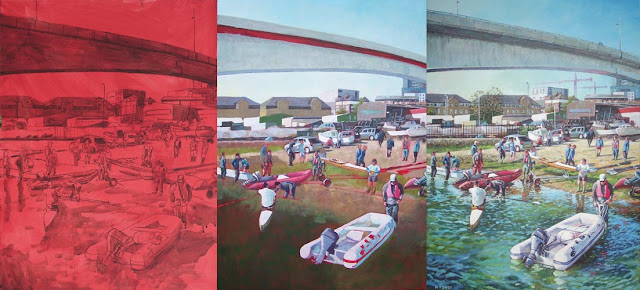 southampton rowing club painting WIP
