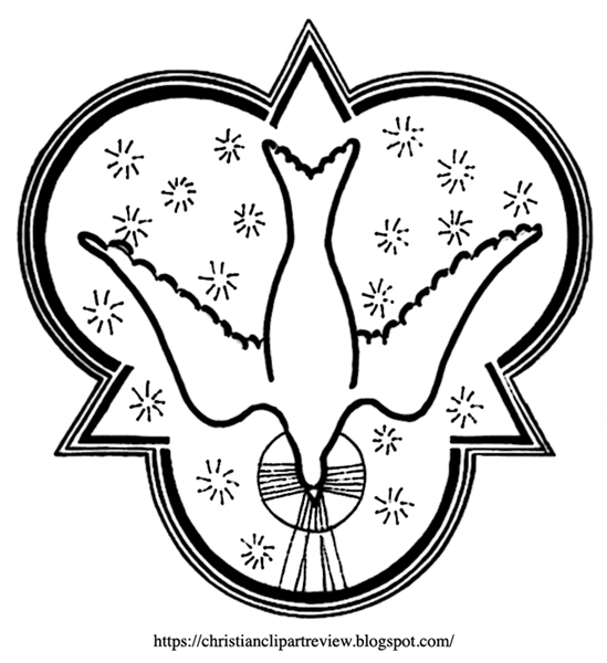 Combined Triangle Trinitarian Dove Symbol Christian Clip Art Review